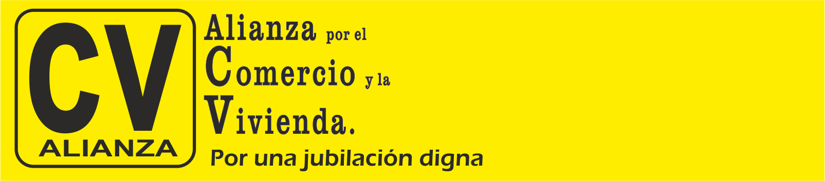 ALIANÇA PEL COMERÇ I L´HABITATGE Per una jubilació digna. Logo